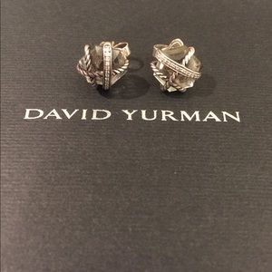 David Yurman Prasiolite Cable Wrap Earrings